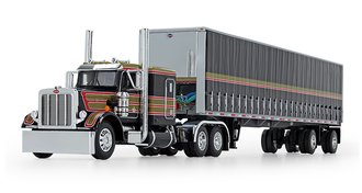 DCP FIRST GEAR 1//64 BLUE AND BLACK WESTERN STAR 5700XE WITH MID ROOF SLEEPER