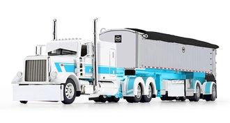 "Peterblt Model 389 63"" Flattop Sleeper w/MAC Coal End Dump Trailer ""STS Transit"""