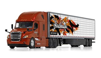 "Freightliner 2019 Cascadia High-Roof Sleeper w/53' Utility Reefer Trailer ""Hirschbach"" (Bronze)"
