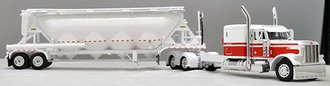 "Peterbilt 379 60"" Sleeper & 320"" Frame w/Pneumatic Vac-Tanker (White/Red)"