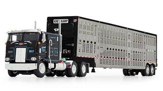 "Peterbilt 352 COE 110"" w/Wilson Silverstar Livestock Trailer ""Kreilkamp Trucking"" (Black)"