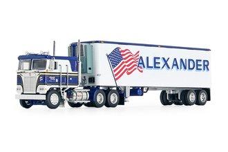 "Kenworth K100 COE Flat Top & 40' Vintage Trailer w/Reefer ""Alexander Trucking"""