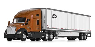 "Kenworth T680 72"" High-RoofSleeper w/53' Wabash DuraPlate Skirted Trailer ""Menke Trucking"""