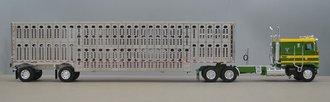 Kenworth K-100 Long Frame w/Spread-Axle Livestock Trailer