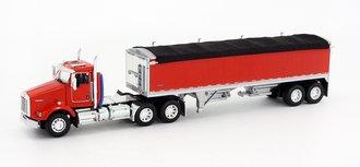 1:64 Kenworth T-800 w/Wilson Short Grain Trailer (Red/Red)