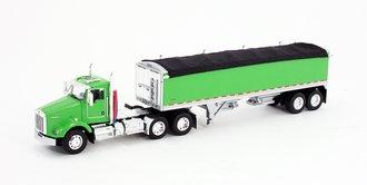 1:64 Kenworth T-800 w/Wilson Short Grain Trailer (Lime Green/Lime Green)