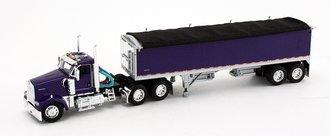 1:64 Kenworth W900 w/Wilson Short Grain Trailer (Purple/Purple)