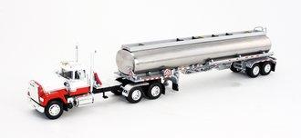"Mack Superliner 260"" Frame Day Cab w/Chrome Heil Fuel Tanker (Red/White)"