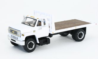 1:64 Chevy C65 Flatbed (White w/White Bed)