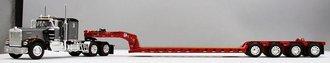 "Kenworth W900A 60"" Sleeper w/Fontaine Lowboy Trailer & Flip Axle (Gray/Red)"