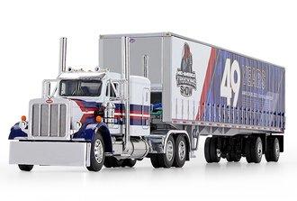 "1:64 Peterbilt Model 359 Flat Top Sleeper w/Tautliner Trailer ""2020 Mid-America Truck Show"""