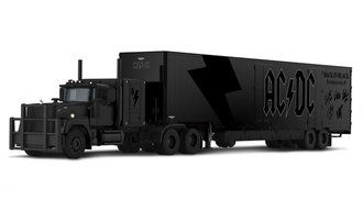 "Mack Super-Liner 60"" Sleeper w/Kentucky Moving Trailer ""AC/DC Back in Black World Tour"""