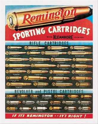 Tin Sign - Remington - Sporting Cartridges