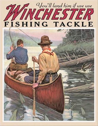 Tin Sign - Winchester - Fishing Tackle