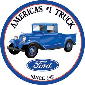 Tin Sign - Ford America's #1 Truck - Since 1917 (Round)