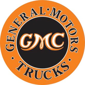 Tin Sign - GMC Trucks (Round)
