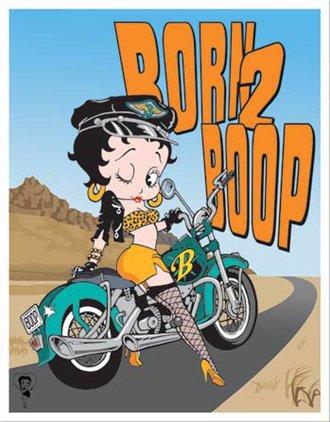 Tin Sign - Betty Boop - Born 2 Boop
