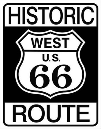 Tin Sign - Route 66 - Historic Route 66