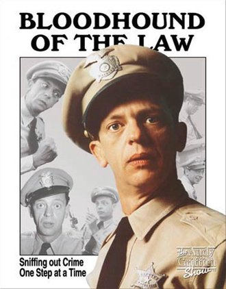 Tin Sign - Barney Fife - Bloodhound of The Law
