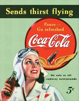 Tin Sign - Coke - Sends Thirst Flying