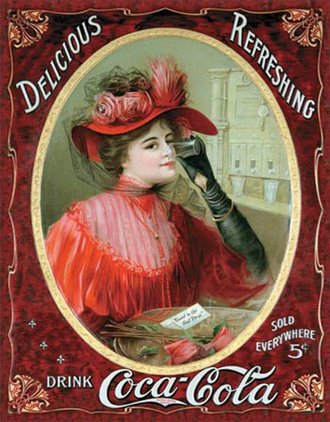 Tin Sign - Coke - Victorian Red Dress