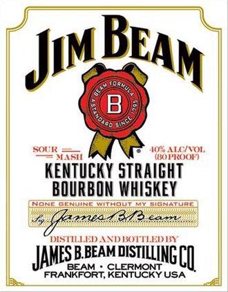 Tin Sign - Jim Beam - White Label