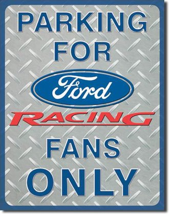 Tin Sign - Ford Racing Parking