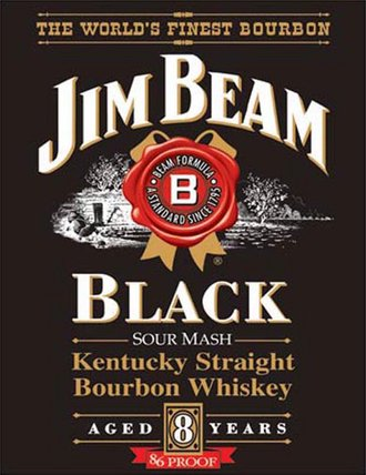 Tin Sign - Jim Beam - Black label