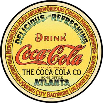 Tin Sign - Coke - Keg Label (Round)