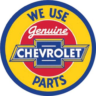 Tin Sign - Chevy Genuine Parts (Round)
