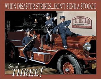 Tin Sign - Stooges - Fire Dept.