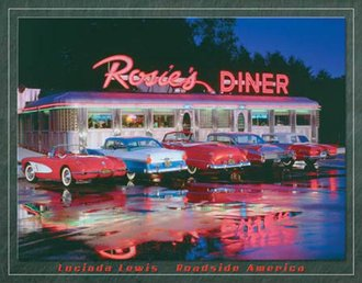Tin Sign - Lewis - Rosie's Diner