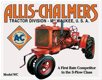 Tin Sign - Allis-Chalmers - Model U