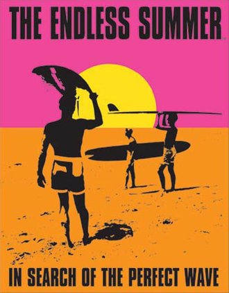 Tin Sign - Surfing - Endless Summer Poster
