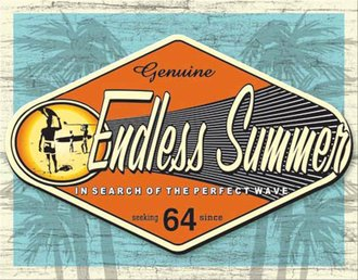 Tin Sign - Surfing - Genuine Endless Summer