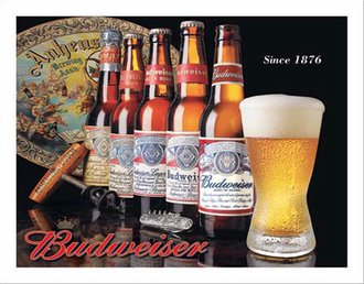 Tin Sign - Budweiser - History of Bud