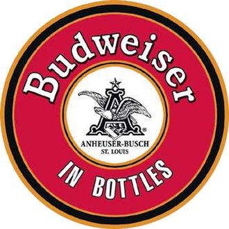 Tin Sign - Budweiser - In Bottles (Round)
