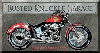 Tin Sign - Busted Knuckle Garage - Bike