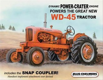 Tin Sign - Allis-Chalmers - WD45