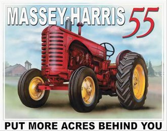 Tin Sign - Massey-Harris 55 Tractor