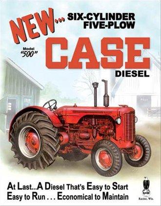Tin Sign - Case - 500 Diesel
