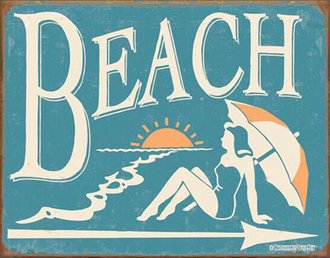 Tin Sign - Schonberg - Beach (Weathered)