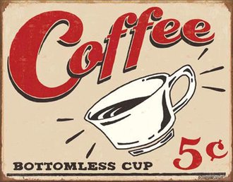 Tin Sign - Schonberg - Coffee 5 cents (Weathered)