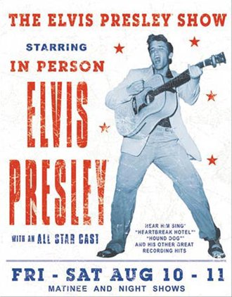 Tin Sign - Elvis Presley Show