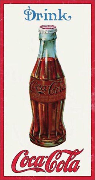 Tin Sign - Coke - 1915 Bottle