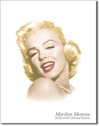 Tin Sign - Marilyn Monroe - Eternal Beauty