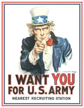 Tin Sign - Uncle Sam - I Want You