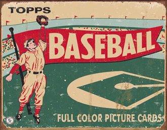 Tin Sign - Topps 1954 Baseball (Weathered)