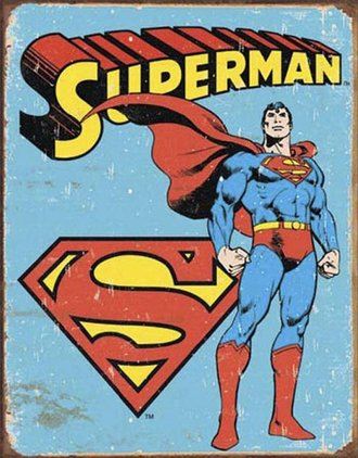 Tin Sign - Superman - Retro (Weathered)