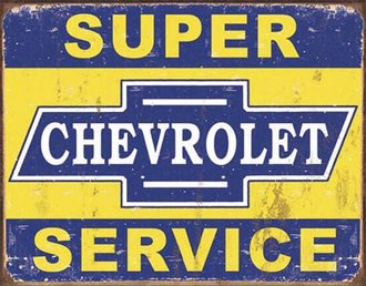 Tin Sign - Chevy - Super Chevrolet Service (Weathered)